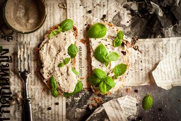 Tuna cream sandwich