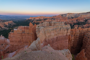 Amphitheater from Sunset Point at sunset, Bryce Canyon National Park, Utah, USA