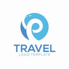 Flat Travel Logo Design Concept, Business Logo Template