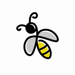Creative Bee Logo Design Concept