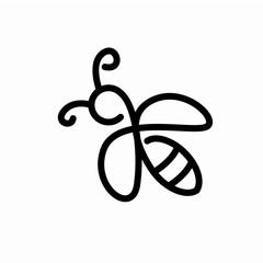 Minimalist Bee Logo Design Concept