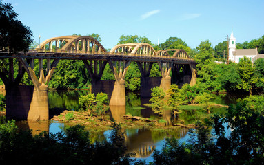Bridge Over The Coosa / The Bibb Graves Historic Bridge over the Coosa River in Wetumpka, Alabama