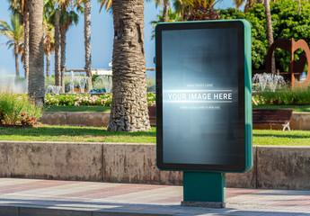 Billboard Advertisement on Beach Mockup