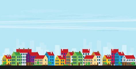 Urban landscape. Vector illustration.