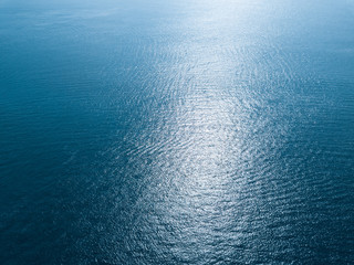 Wall Mural - Bluw sea surface aerial view
