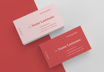 Solid Colored Business Card Layout