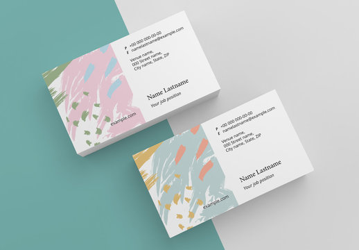 Abstract Brush Stroke Business Card Layout