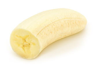 Half of banana isolated on a white.