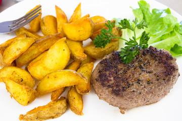 steak haché et wedge