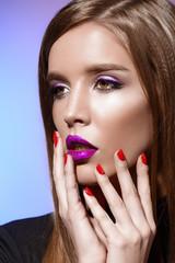 bright violet lips