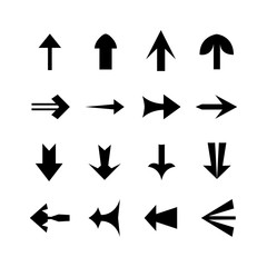 Design a black arrow on a white background.