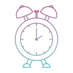 alarm time clock isolated icon vector illustration design