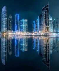 Dubai Marina bay view from Palm Jumeirah, UAE