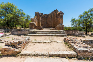 Photo sur Aluminium Ruine Roman ruins of Milreu, Estoi, Algarve, Portugal