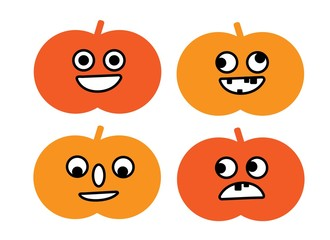 funny face pumpkins for halloween