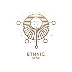 Sacred geometric emblem