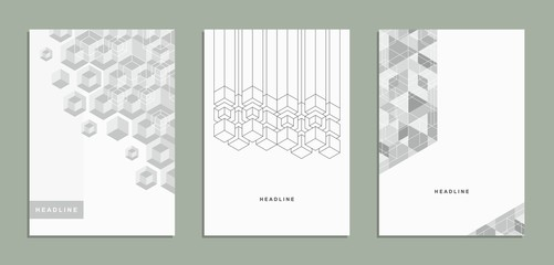 Geometric abstract brochure, flyer, template, corporate identity.