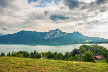 Panoramic View, Mondsee, Austrian Alps, Austria