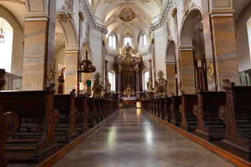 Innenansicht Stadtpfarrkirche St. Blasius (Fulda)