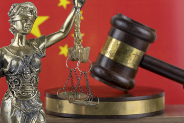 Human Rights Act and Justice Concept , China Flag