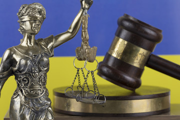 Human Rights Act and Justice Concept , Ukraine Flag