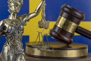 Human Rights Act and Justice Concept , Sweden Flag