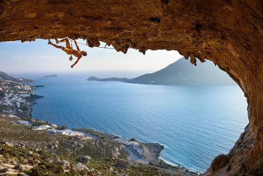 Great view of Kalymnos Island. Picturesque summer sunset on famous Greek,Europe
