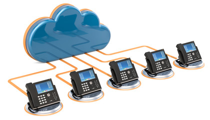 VoIP communication concept. 3D rendering