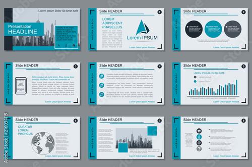 professional business presentation slide show vector design