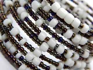 African handmade bead jewellry macro