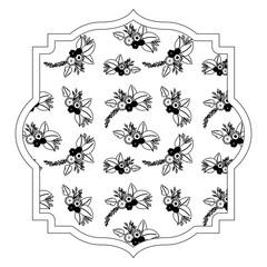elegant frame with floral decoration pattern vector illustration design