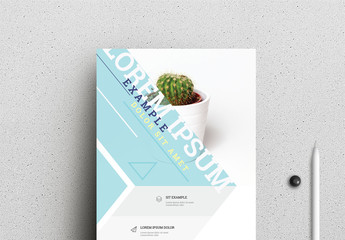Business Flyer Layout with Light Blue Accents