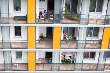 Balconies from a block of flats