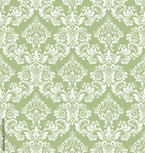 Floral Pattern Vintage Wallpaper In The Baroque Style Seamless Vector Background White And