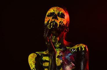 Halloween day of dead celebration