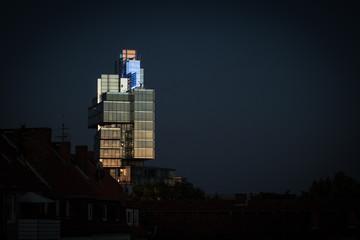 Glas Haus bei Nacht