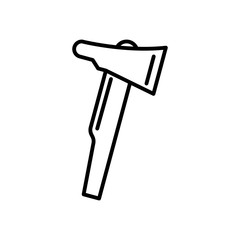 Fire axe line icon. vector illustration isolated on white. outline style design, designed for web and app. Eps 10.