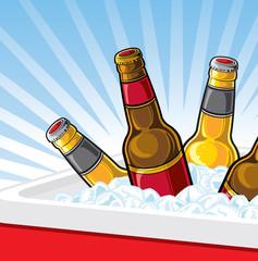 Cooler of beer