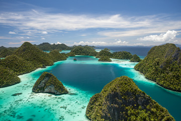 Tropical Lagoon and Limestone Islands in Wayag, Raja Ampat