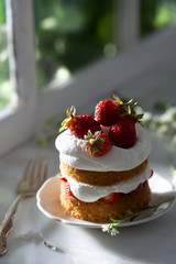 Mini Strawberry Shortcake Layer Cake