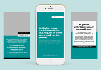 Social Media Kit with Teal Accents