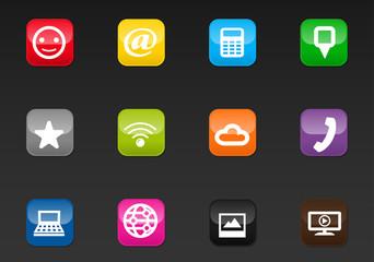 Social media color button