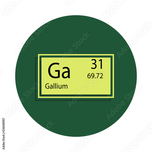 Periodic Table Element Gallium Icon In Badge Style One Of Chemical