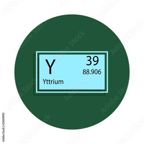 Periodic Table Element Yttrium Icon In Badge Style One Of Chemical