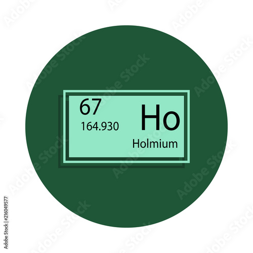 Periodic Table Element Holmium Icon In Badge Style One Of Chemical