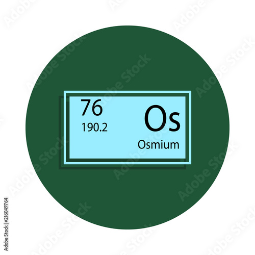 Periodic Table Element Osmium Icon In Badge Style One Of Chemical