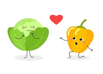 Romantic veggie scene