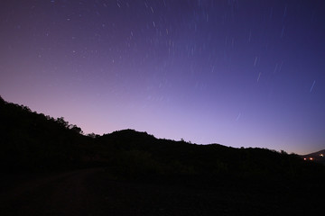 Perseid Meteor shower and stars