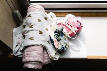 Close up newborn baby gifts