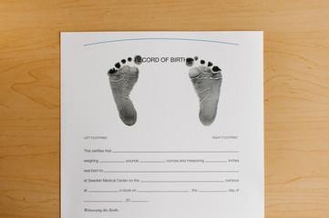 Record of birth